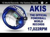 10 World Records - the fastest Powerball spins ever by Akis Kritsinelis